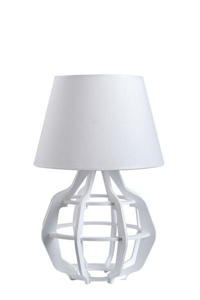 Designerska lampa stołowa BENTO 918 biały/biały mat śr. 30cm