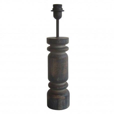 Lampa Stołowa w Stylu Prowansalskim Grafitowa E