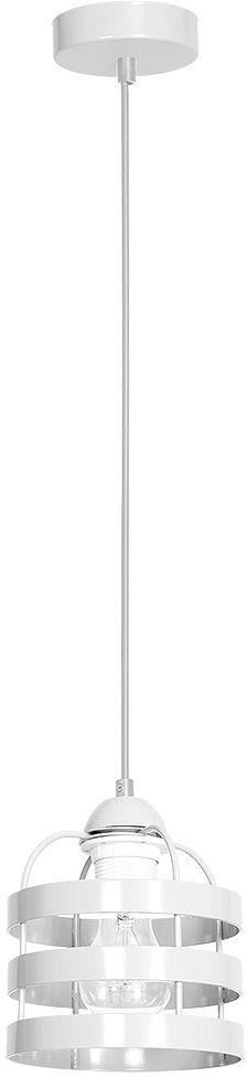 Milagro LARS WHITE MLP791 lampa wisząca industrialna metalowa biała 1xE27 15cm