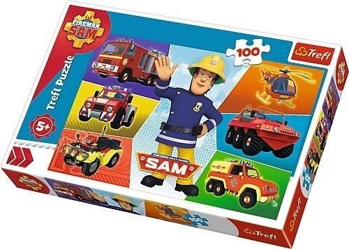 Puzzle 100 Pojazdy Strażaka Sama TREFL