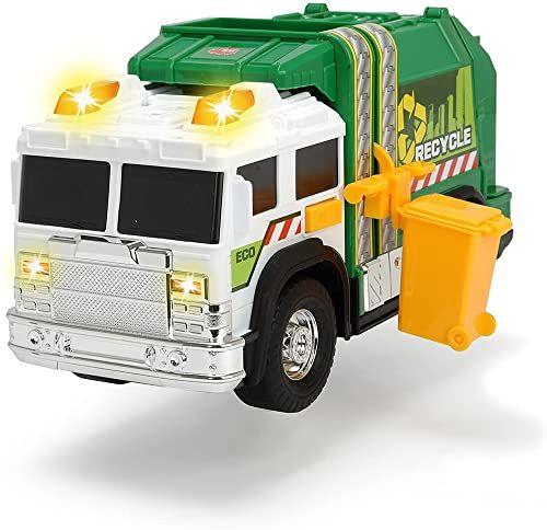 Dickie 203306006 A.S. Śmieciarka Zielona, 203306006 30 Cm ,wielobarwny