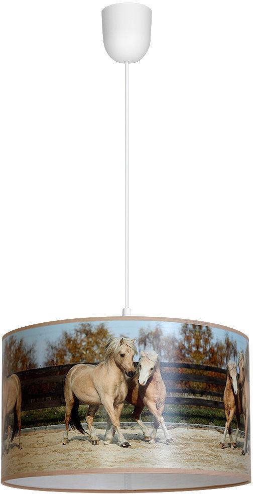 Milagro HORSES MLP846 lampa wisząca nowoczesna metal+tworzywo sztuczne motyw koni 1xE27 30cm