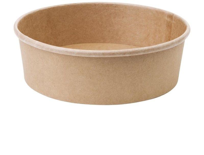 Kompostowalne okrągłe salaterki z papieru 750ml / 26oz Fiesta Green (Zestaw 300 sztuk)