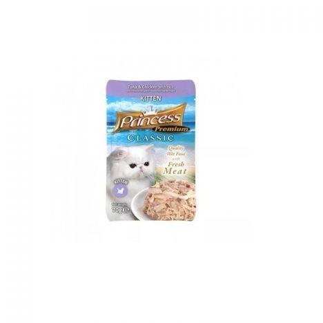 Princess Premium Saszetka Kitten Tuńczyk Kurczak z tauryną 70g
