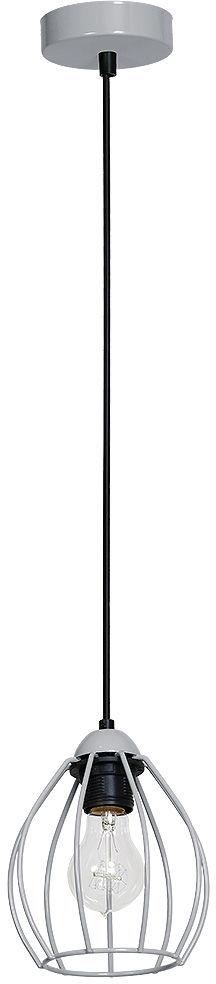 Milagro DON GREY MLP734 lampa wisząca metalowa szara koszyk 1xE27 12cm