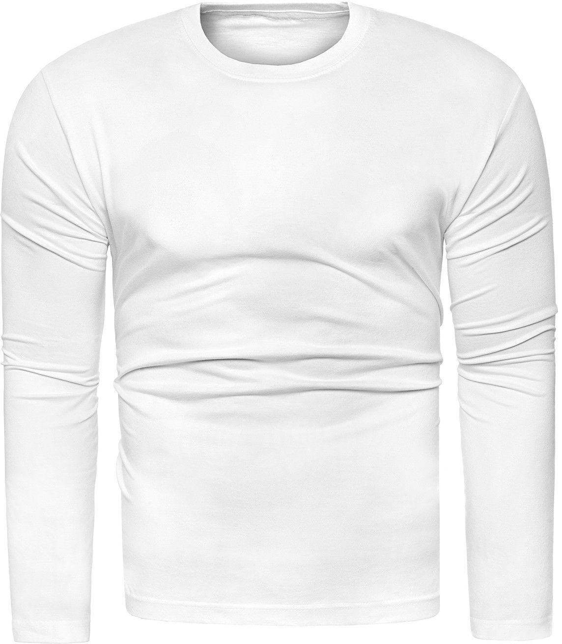 Bluza męska longsleeve N01L - biała