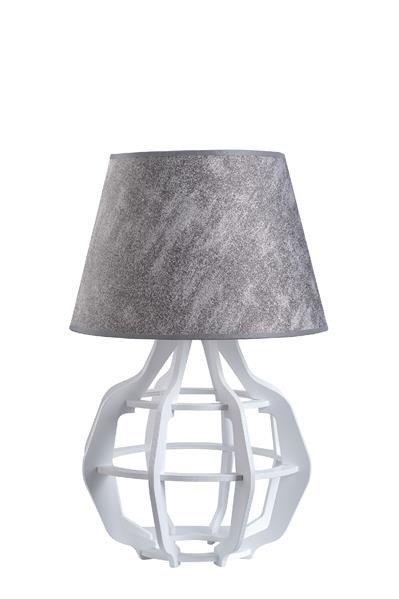 Designerska lampa stołowa BENTO 920 biały/szary śr. 30cm