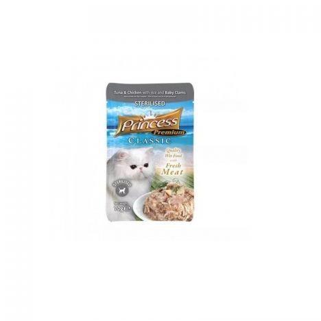 Princess Premium Saszetka Sterilised Małże Baby Tauryna 70g