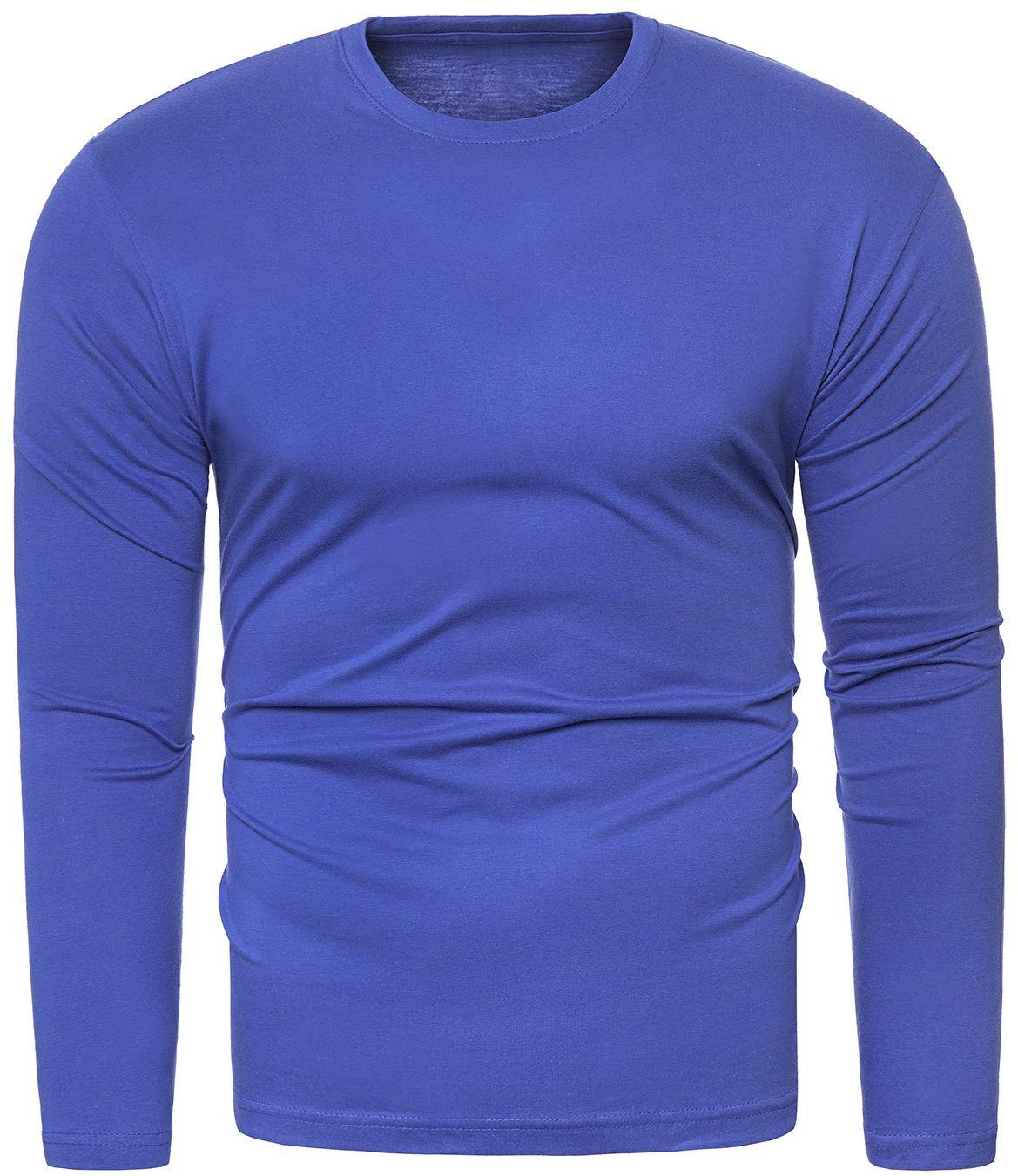Bluza męska longsleeve N01L - indigo