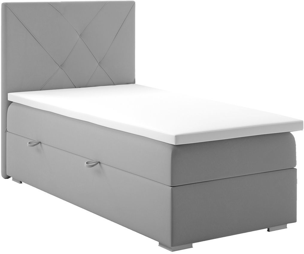 Pojedyncze łóżko boxspring Pascal 90x200 - 58 kolorów