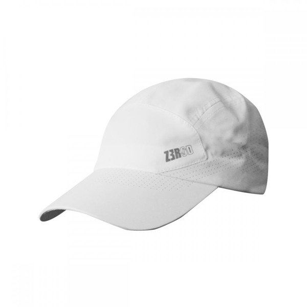 ZEROD Czapka biegowa RUNNING CAP Biała - Biały