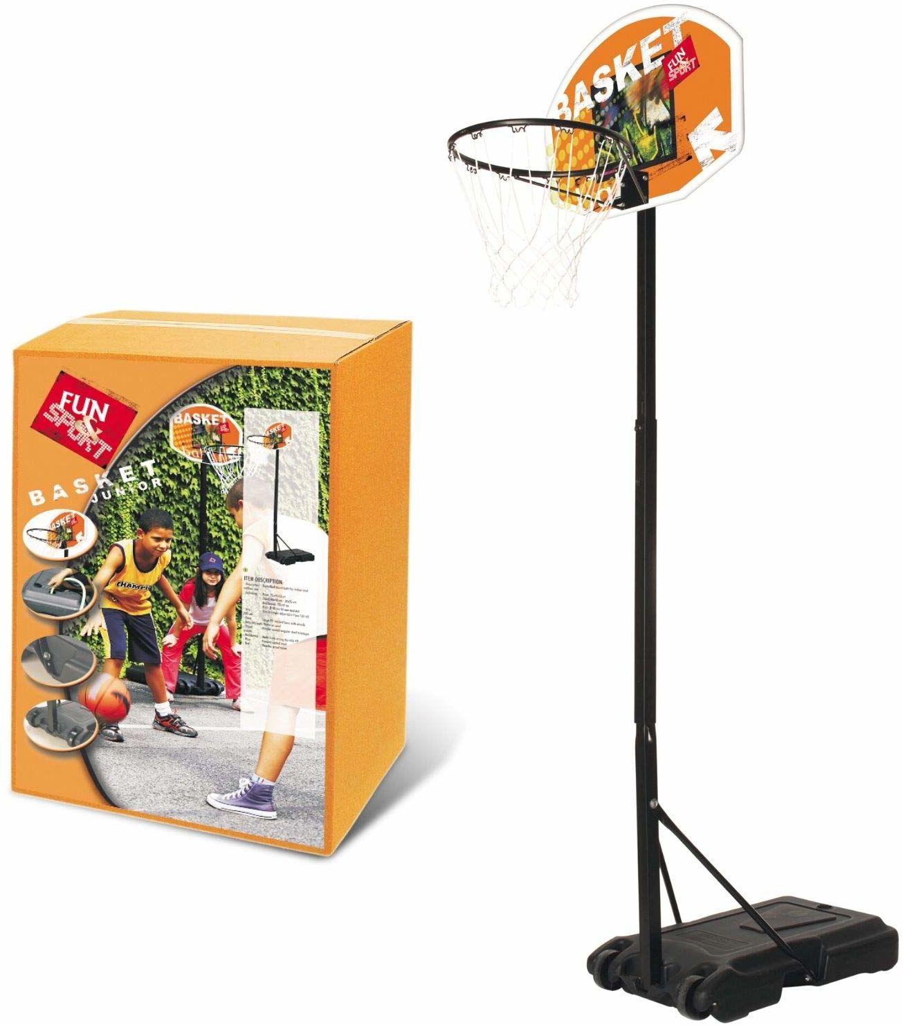 MONDO  18294  kosz do koszykówki, Junior  regulowany w zakresie od 165 do 205 cm