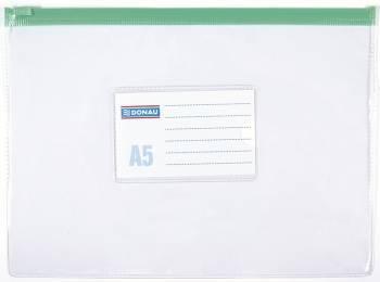 Torebka DONAU PVC z suwakiem A5 - X08080
