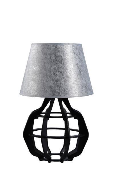 Designerska lampa stołowa BENTO 922 czarny/srebrny śr. 30cm