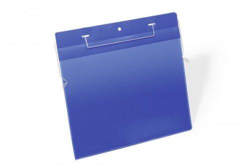 Kieszeń magazynowa z drutami montażowymi DURABLE 311x280 (A4 pozioma) niebieska (50szt.) 175407