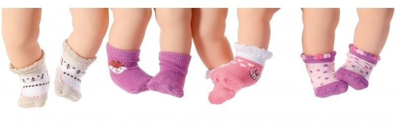 Skarpetki dla lalki Baby Annabell w kolorze różowym