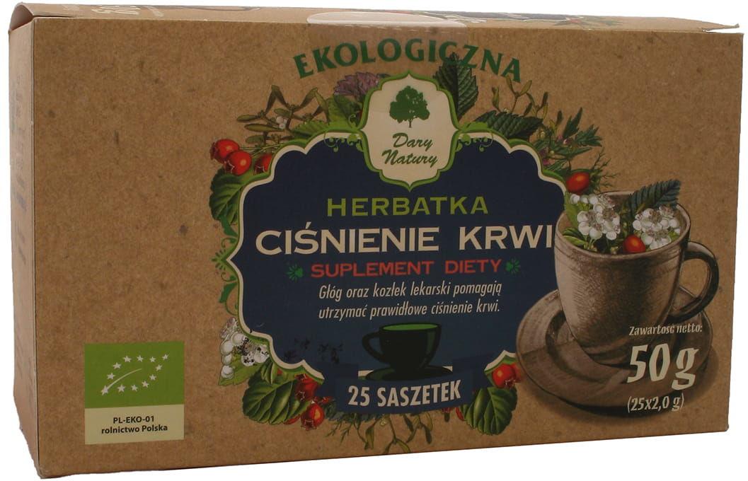 Herbatka polecana przy nadciśnieniu BIO - Dary Natury - 25 sasz
