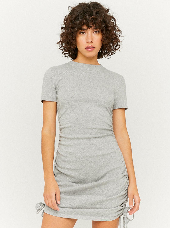 Tally Weijl jasno szara sukienka ołówkowa