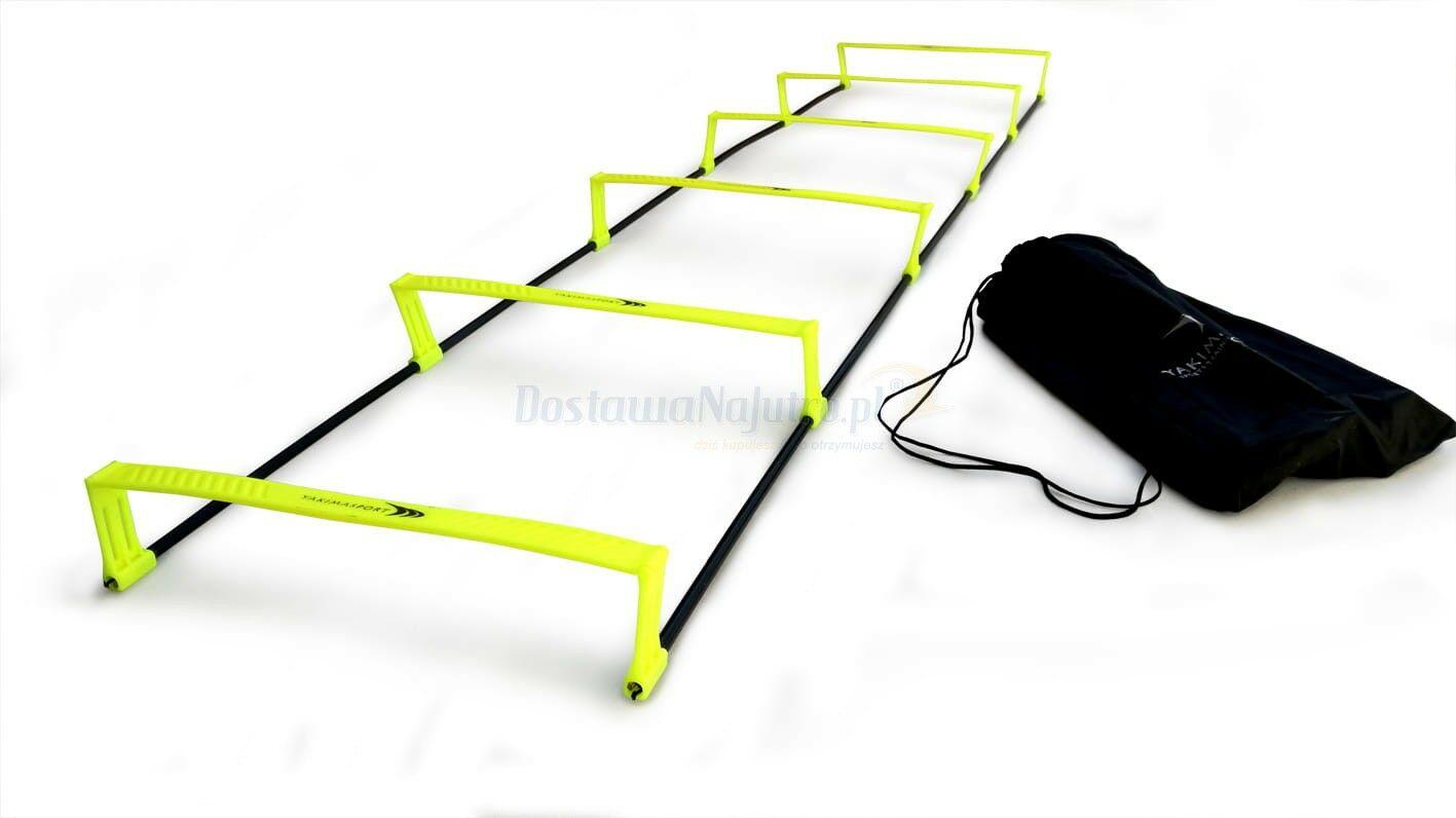 Drabinka koordynacyjna 2w1 podwyższana płotki 6 stopni do treningu