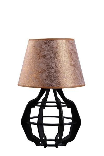Designerska lampa stołowa BENTO 923 czarny/miedź śr. 30cm