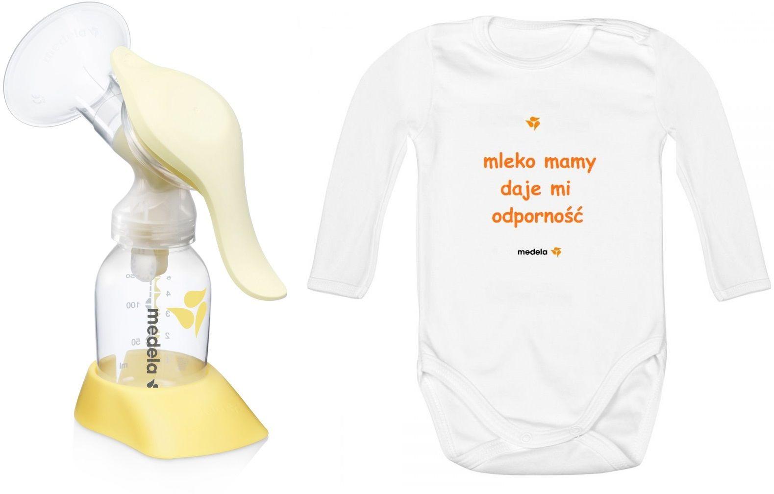 Medela Harmony Medela Harmony laktator ręczny dla karmiących matek + body niemowlęce