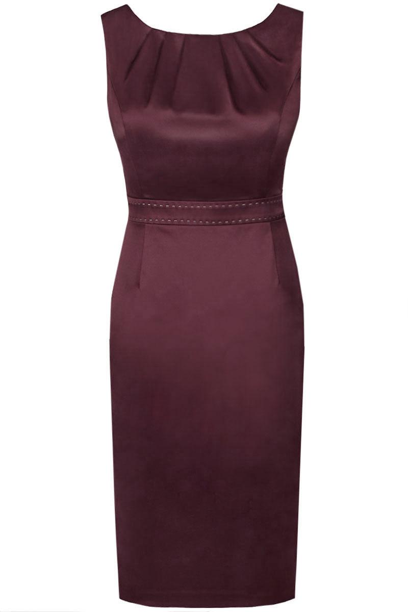 Sukienki Sukienka Suknie FSU795 BAKŁAŻAN