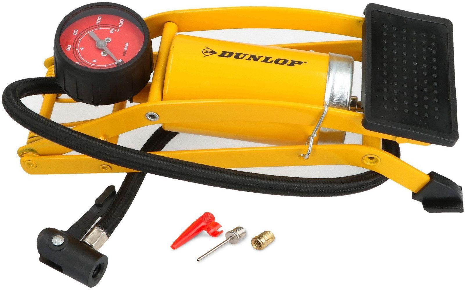 Pompka nożna z manometrem metalowa Dunlop