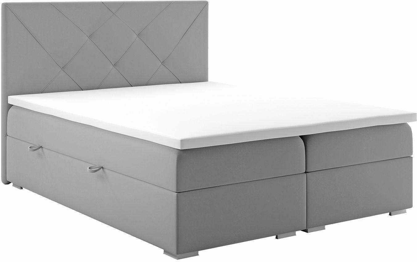 Podwójne łóżko boxspring Pascal 160x200 - 58 kolorów
