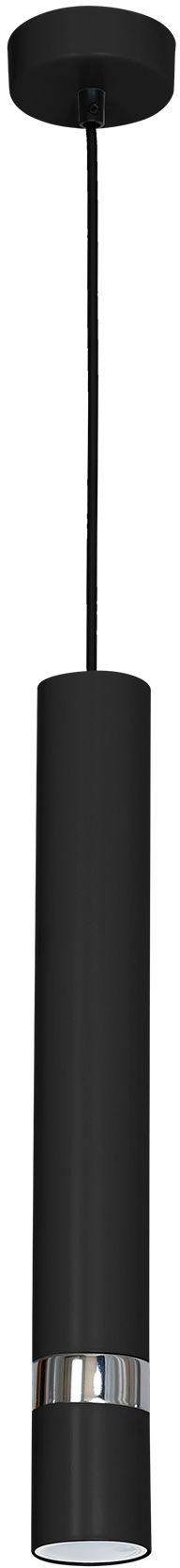 Milagro JOKER BLACK MLP1413 lampa wisząca nowoczesna czarna obudowa połączona ze srebrnymi elementami 1xGU10 8cm