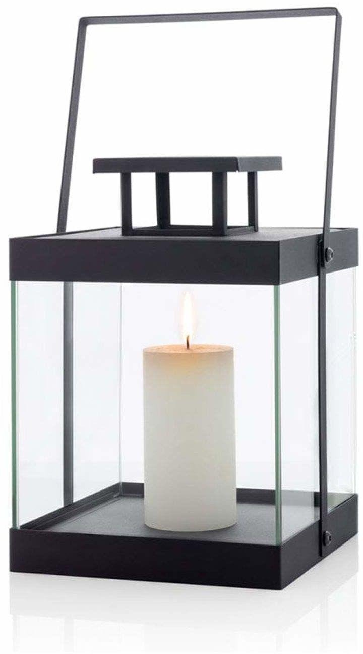 blomus latarnia, bez świecy, S, metalowa, czarna, 22 x 22,5 x 29,5 cm
