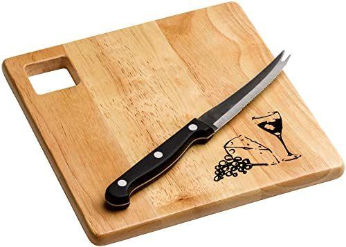 Premier Housewares 9096871 kauczukowy ser z deski, drewno kauczukowe (Hevea), stal nierdzewna, naturalna