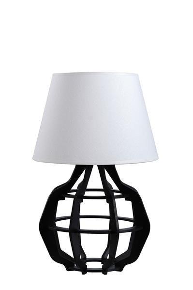 Designerska lampa stołowa BENTO 924 czarny/biały mat śr. 30cm