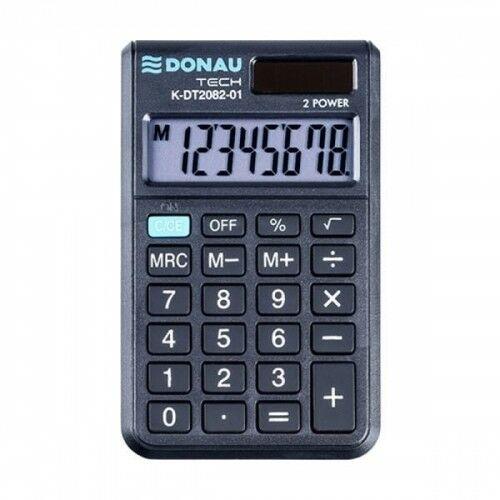 Kalkulator kieszonkowy 8 pozycyjny DONAU TECH K-DT2082-01 97x60x11mm czarny /K-DT2082-01/