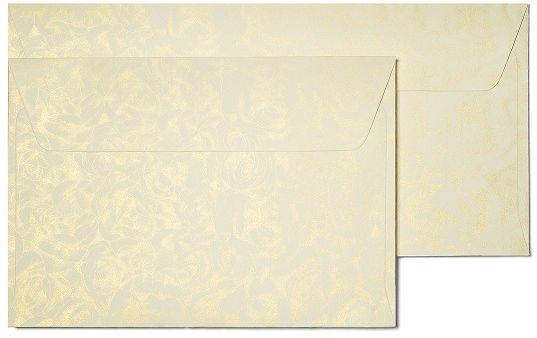 Koperty ozdobne Róże kremowy 7x11 cm