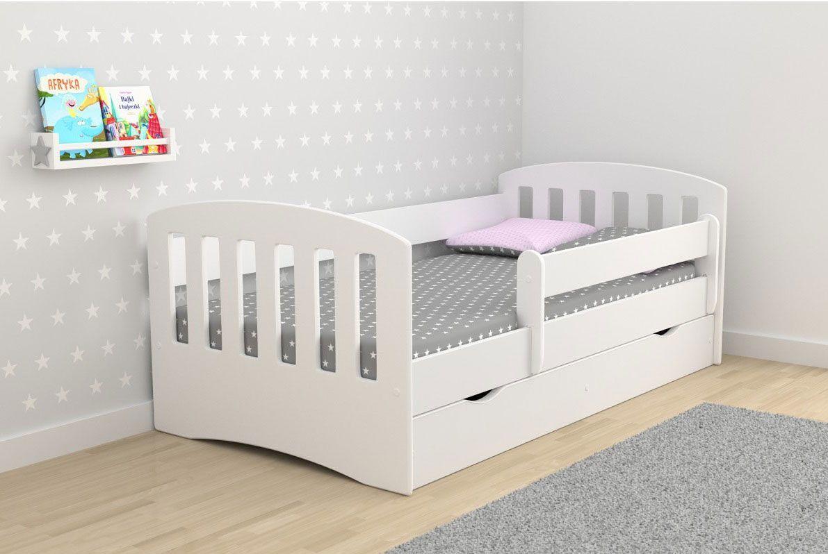 Łóżko dziecięce z materacem Pinokio 2X 80x140 - białe