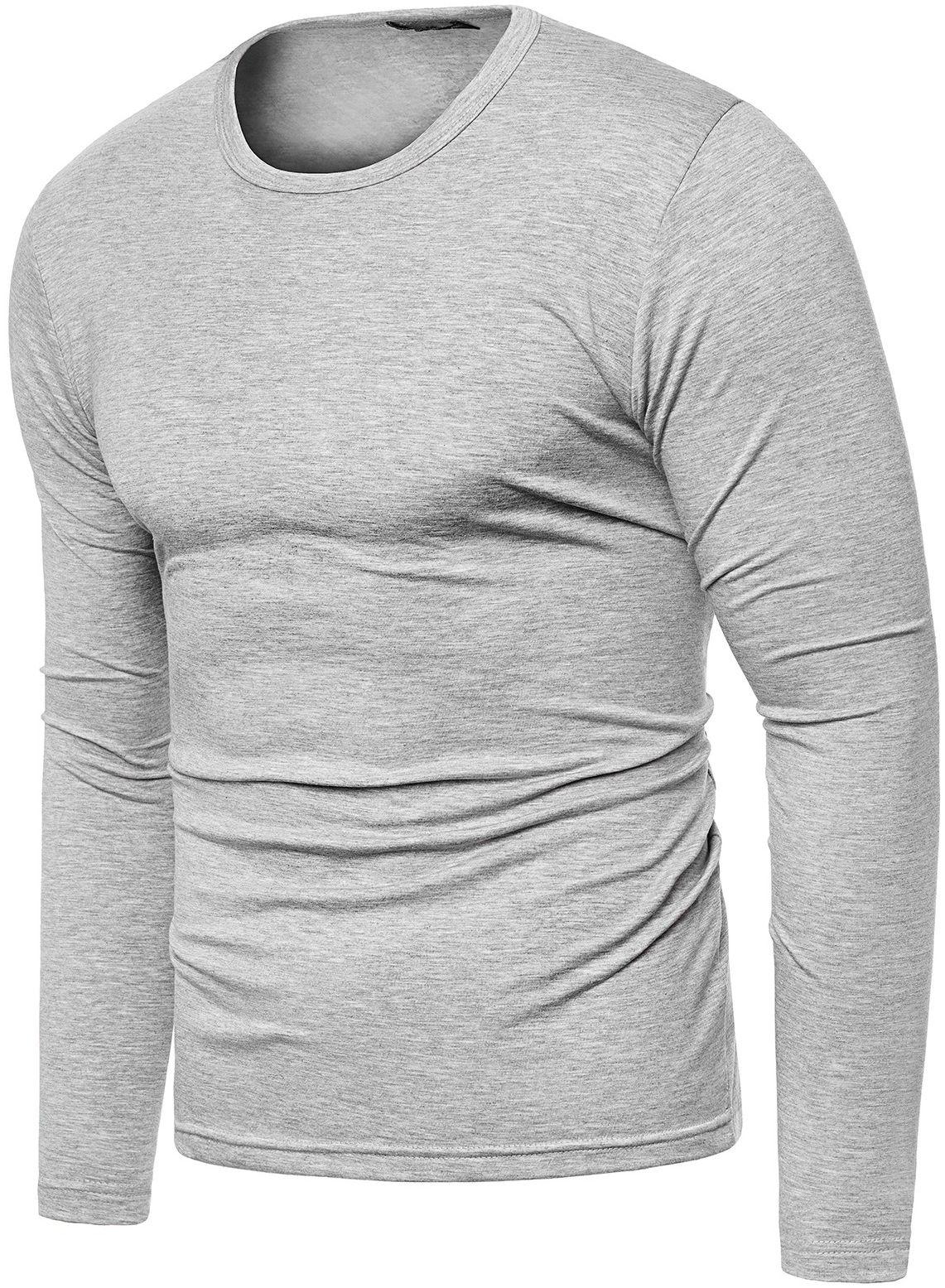 Bluza męska longsleeve N01L - szara