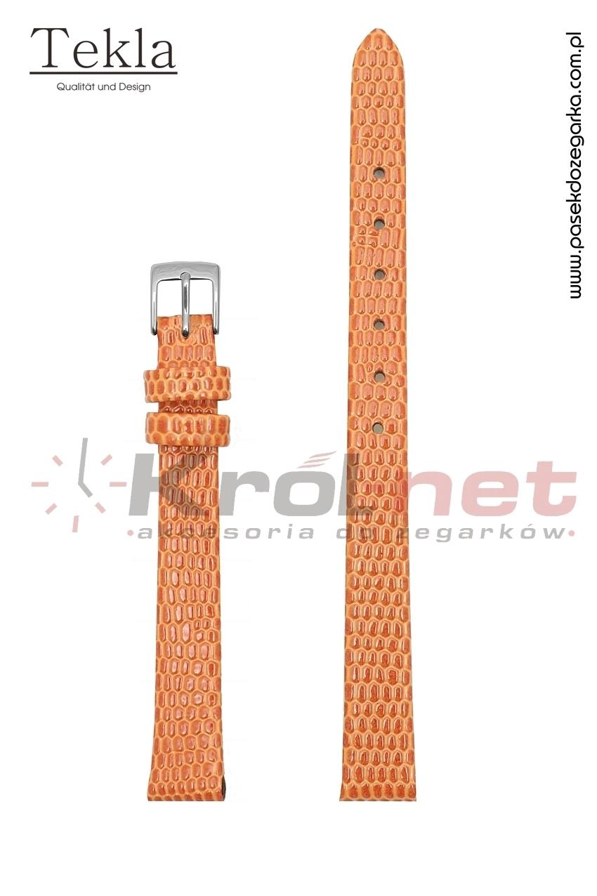 Pasek TK033POM/10 - pomarańczowy, imitacja skóry jaszczurki