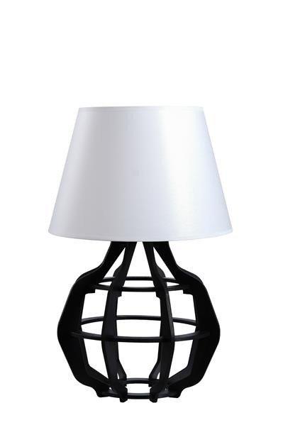 Designerska lampa stołowa BENTO 925 czarny/biały połysk śr. 30cm