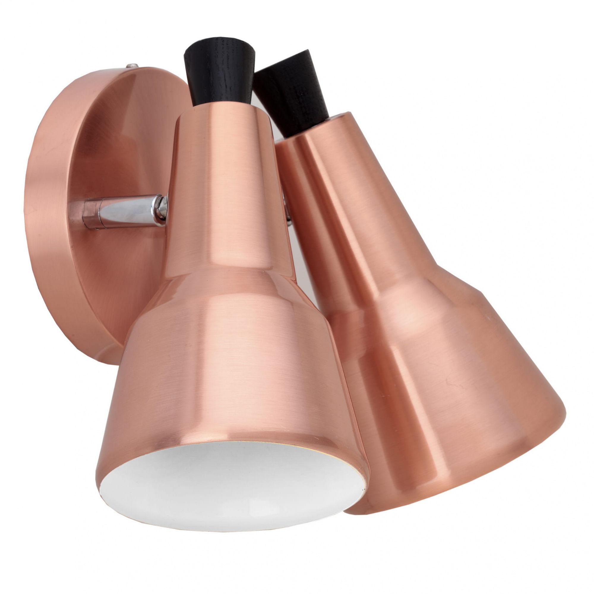 Kinkiet Auletta 2 LP-507/2W Light Prestige nowoczesna lampa ścienna w kolorze miedzianym