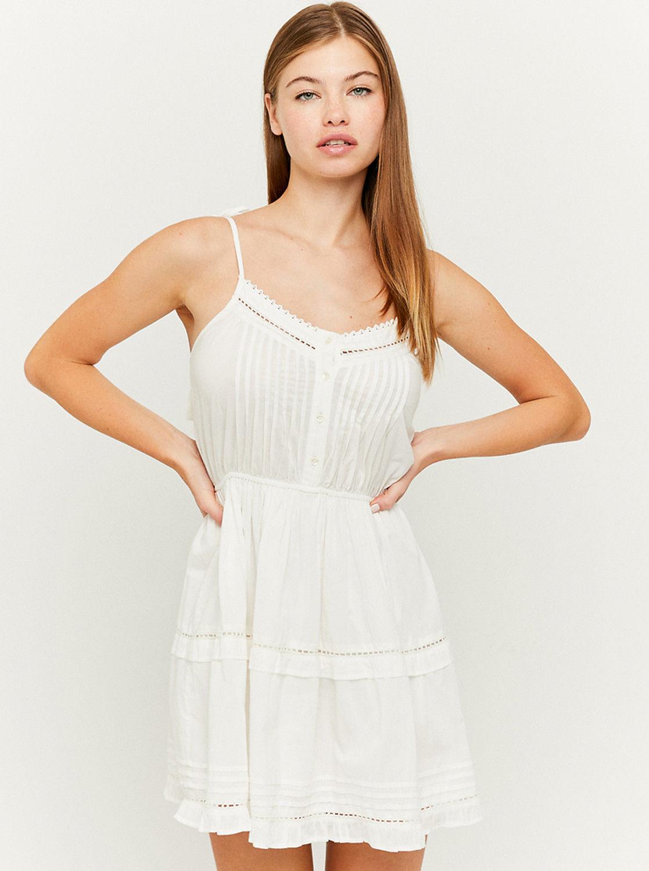 Tally Weijl biała sukienka z koronką
