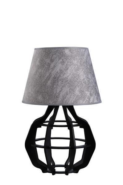 Designerska lampa stołowa BENTO 926 czarny/szary śr. 30cm