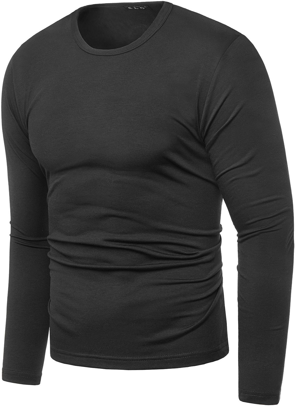 Bluza męska longsleeve N01L - czarna