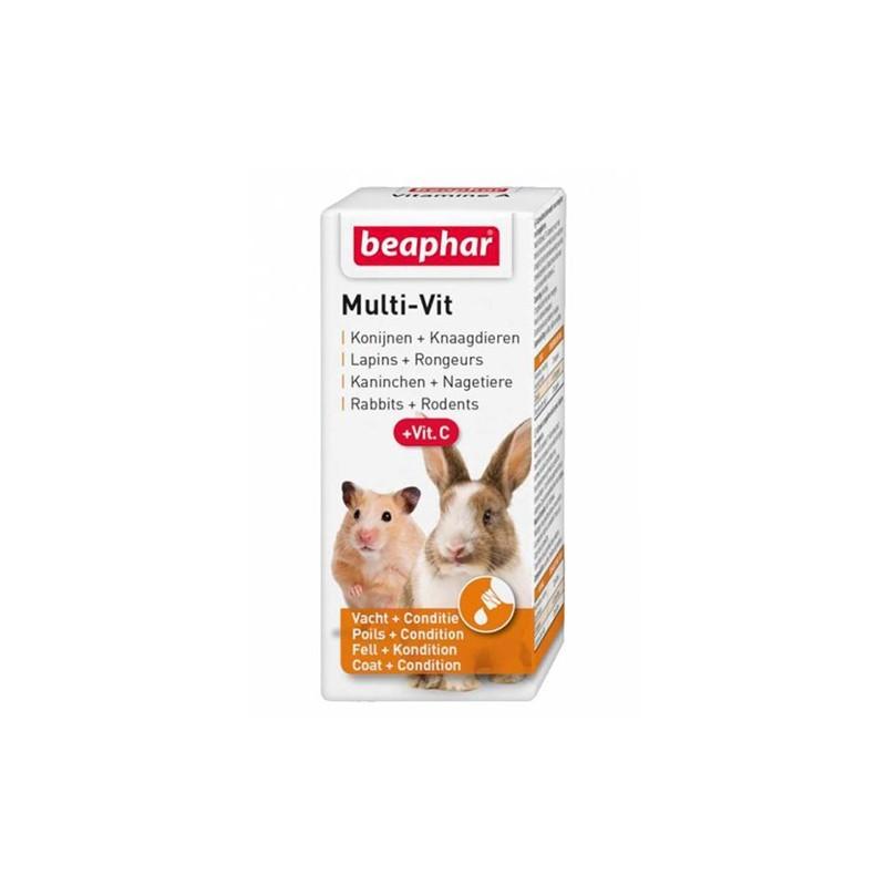 Beaphar Multiwitamina z witaminą C - preparat witaminowy dla królików i gryzoni 20 ml