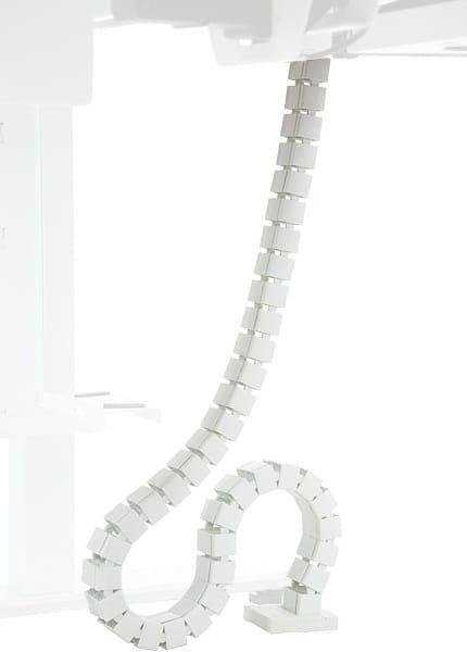 Pionowy kanał kablowy (biały) do stelaża z elektryczną regulacją wysokości