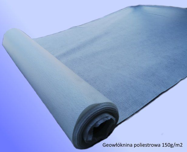 Geowłóknina poliestrowa 150 g/m2 rolki 1m x 10m (10m2)
