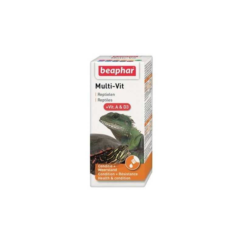 Beaphar Multi-Vit z witaminą A i D3 - preparat witaminowy dla gadów 20 ml