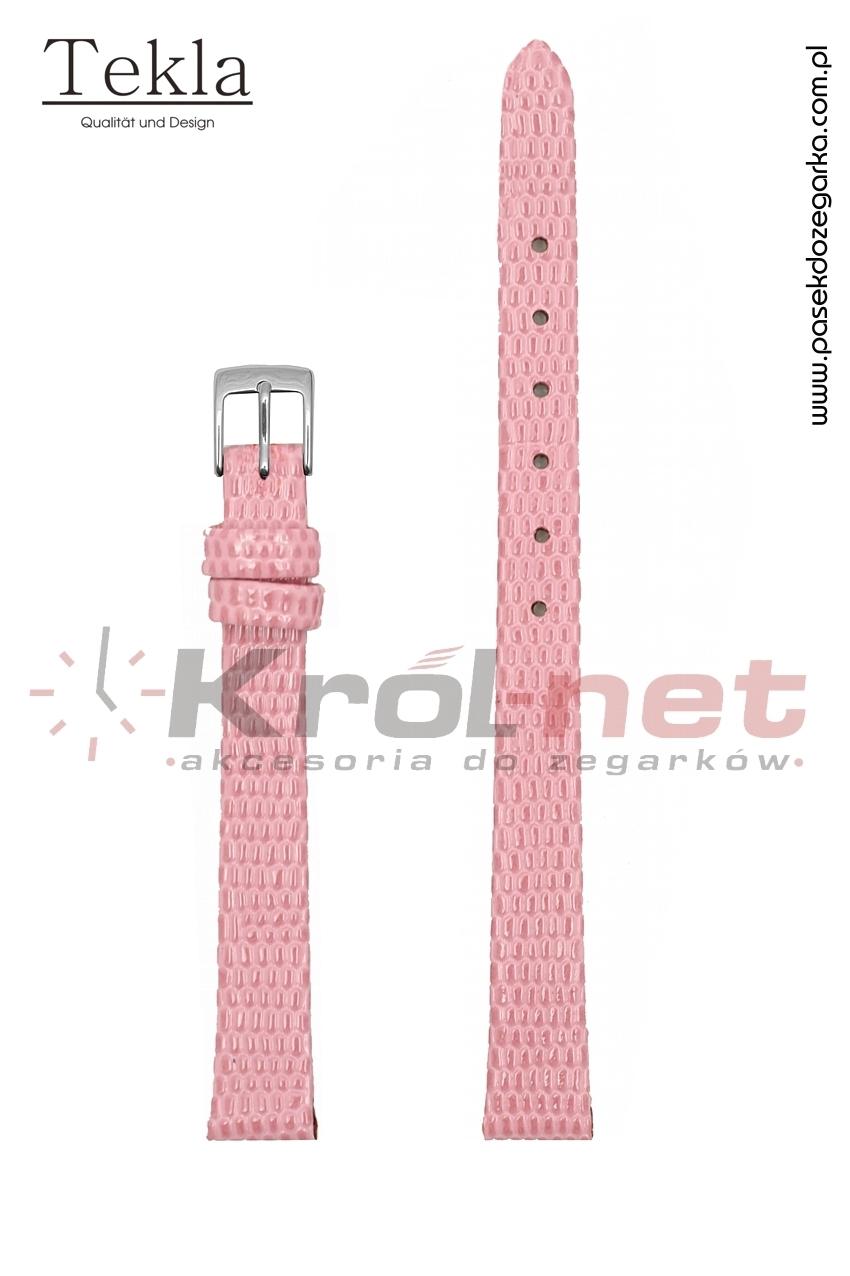 Pasek TK033ROZ/14 - różowy, imitacja skóry jaszczurki