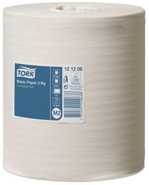 Czyściwo papierowe Tork do podstawowych zadań, dwuwarstwowe, białe
