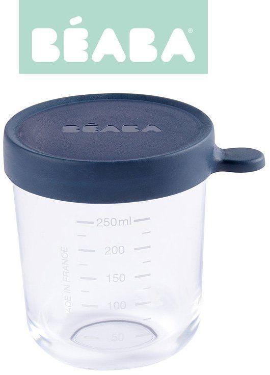 Beaba Pojemnik słoiczek szklany z hermetycznym zamknięciem 250 ml dark blue 912652-Beaba, akcesoria do kuchni