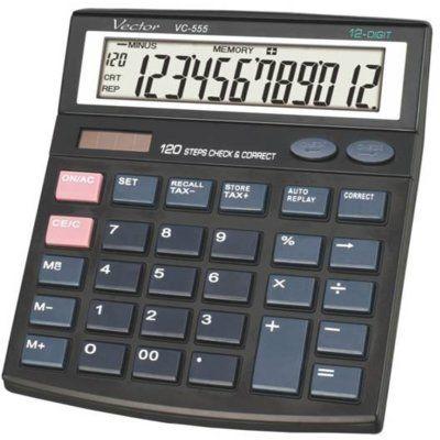 Kalkulator biurowy VECTOR DIGITAL KAV VC-555
